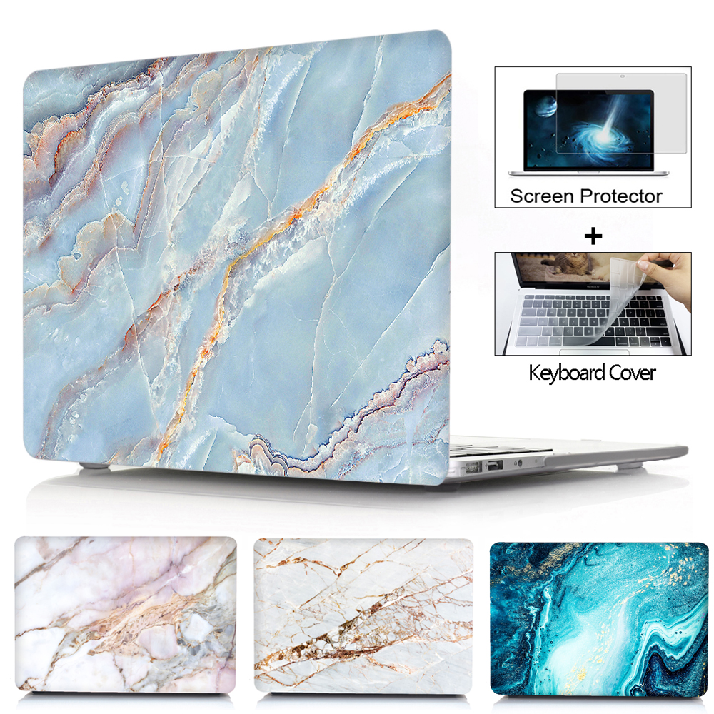 Abstract MacBook A2338 Laptop Case Marbled Red Blue Coque Macbook Pro 13 Inch