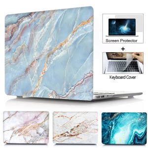 Laptop-Case Keyboard-Cover Hard-Shell Marble Touch Macbook Retina for Id-air-13/Pro/Retina/..