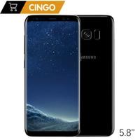 Original Samsung Galaxy S8 SM G950F 4G LTE Mobile phone 64GB 5.8 Inch Single Sim 12MP 3000mAh S series Smartphone