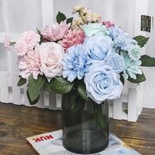 High imitation loris bouquet home simulation flower flower arrangement office wedding bouquet bouquet цена 2017
