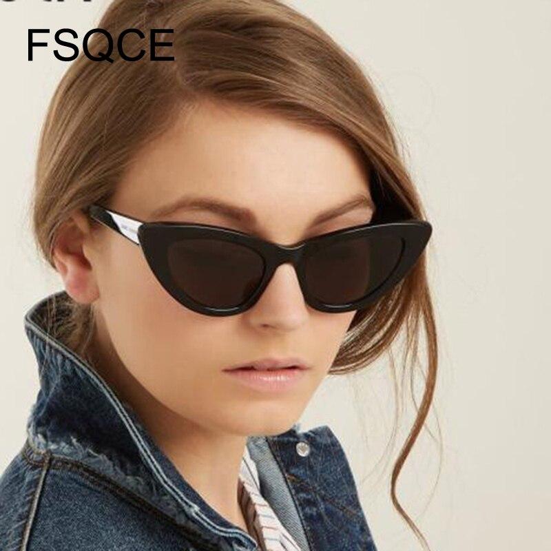 FSQCE Ladies Cat Eye Sunglasses Women Brand Designer New Fashion Cute Eyewear Cateye's Sun Glasses Female Oculos De Sol