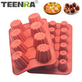 TEENRA 2Pcs Silicone Cake Mold Non-stick Canele Mould Muffin Jelly Cake Baking Pan French Dessert Pastry Cake Decorating Tools