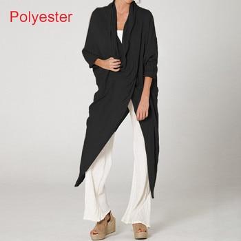 Plus Size Women Tops and Blouse 2021 Celmia Autumn Vintage Long Blouses Casual Cowl Neck Long Sleeve Asymmetric Party Blusas 5XL 12