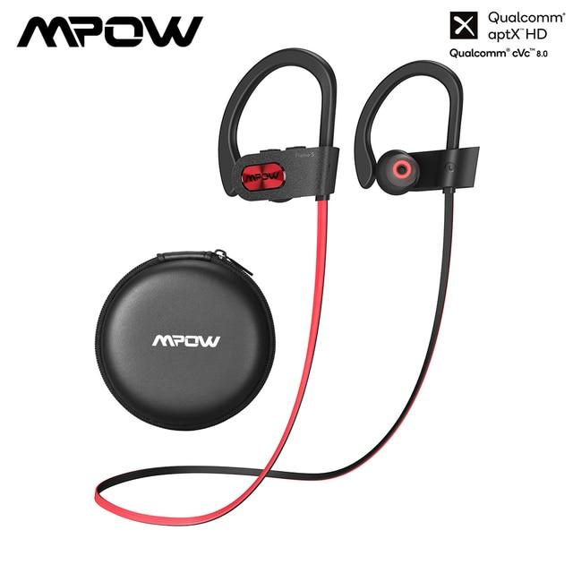 Mpow alev S Bluetooth 5.0 kulaklık aptx hd kablosuz kulaklıklar ile 12H oynatma IPX7 su geçirmez spor kulaklıklar iOS android