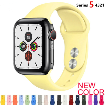 Strap For Apple Watch band 38mm 42mm iWatch 4 band 44mm 40mm Sport Silicone belt Bracelet Apple watch 5 4 3 2 Silicone strap