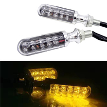 1 pair Universal Motorcycle Modification Accessories Scooter Turn Light LED Signal Harley Retro