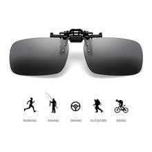 Moto voiture 13cm polarisé Clip sur lunettes de soleil conduite Vision nocturne lentille anti-uva éblouissement extérieur lunettes de soleil lunettes de soleil