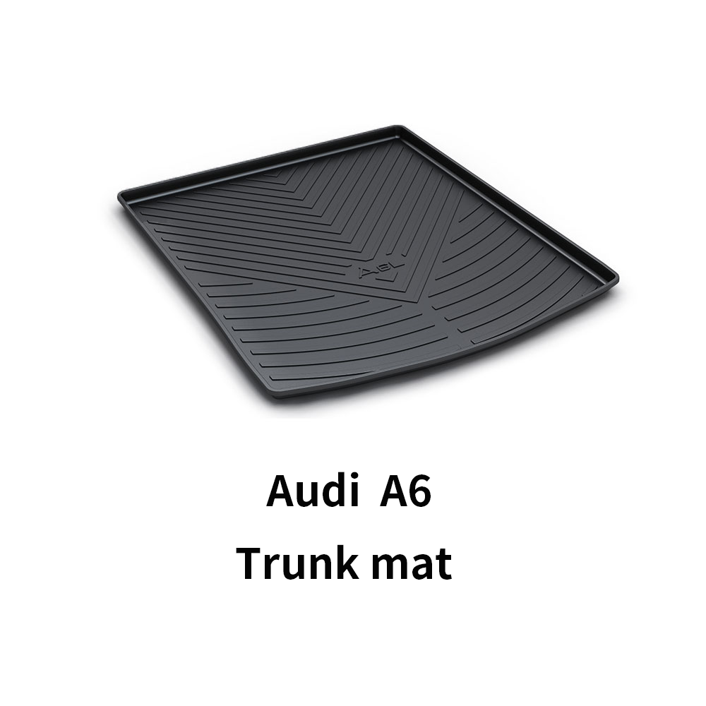 Black Heavy Duty Cargo Floor Mat-All Weather Trunk Protection, Durable HD TPO Fit For Audi A6 09-19