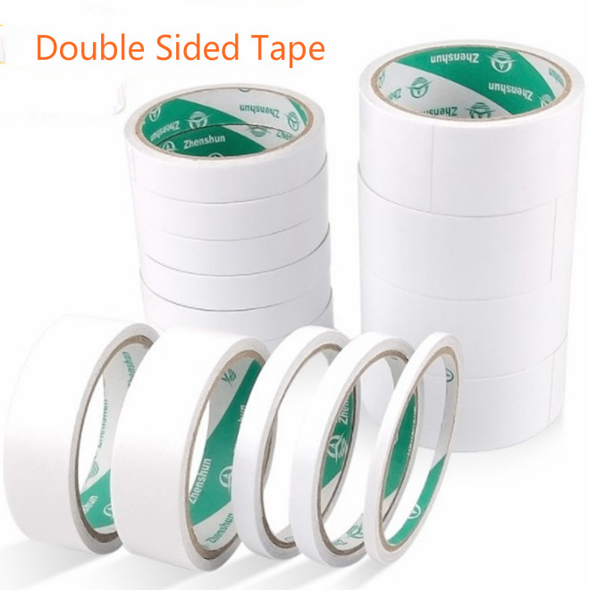 9M White Super Strong Double Sided Adhesive Tape Paper Strong Ultra-thin High-adhesive Cotton Double-sided Tape Office Supplies