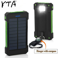 Heißer Solar Power Bank Wasserdicht 30000mAh Solar Ladegerät 2 USB Ports Externe Ladegerät Power für Xiao mi mi iPhone 8 Smartphone-in Powerbank aus Handys & Telekommunikation bei