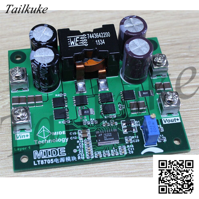LT8705 Wide Input Automatic Buck-boost High-power Power Module, Four-layer Board Design