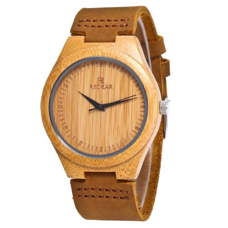 2020 Promotion Amazon Hot Style Bamboo Watches Leather Shi Yingmu Table Cross-border For A Undertakes To High-quality Goods
