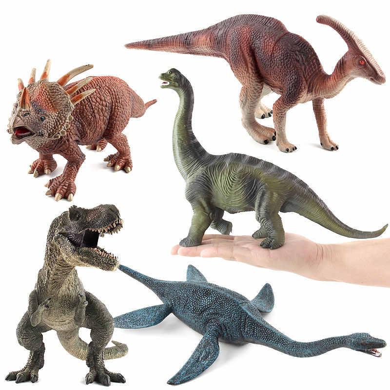 9 pçs tamanho grande jurassic animais selvagens jogo plástico brinquedo conjunto dinossauro temático modelo figuras de ação decoração para casa para o miúdo menino presente