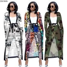 2019 outono inverno feminino conjunto de manga cheia longo capa casaco faixas calças sexy moda impressão ol duas peças outfits treino 3535