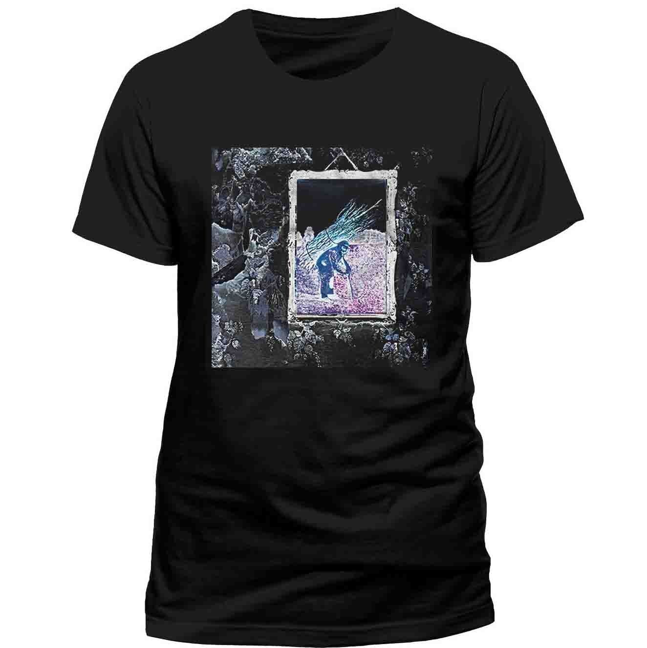 Led Zeppelin Iv Album Shirt Official Tshirt Rock Band T-Shirt New Streetwear Size S-3Xl image