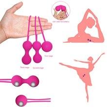 Silicone Smart Ball Kegel Balls Ben Wa Muscle Trainer Vaginal Geisha Massage Vibrator Vibrating Egg Female sex toys