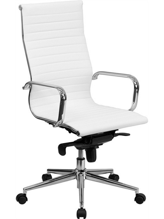 Office Armchair ALABAMA, High, Similpiel White