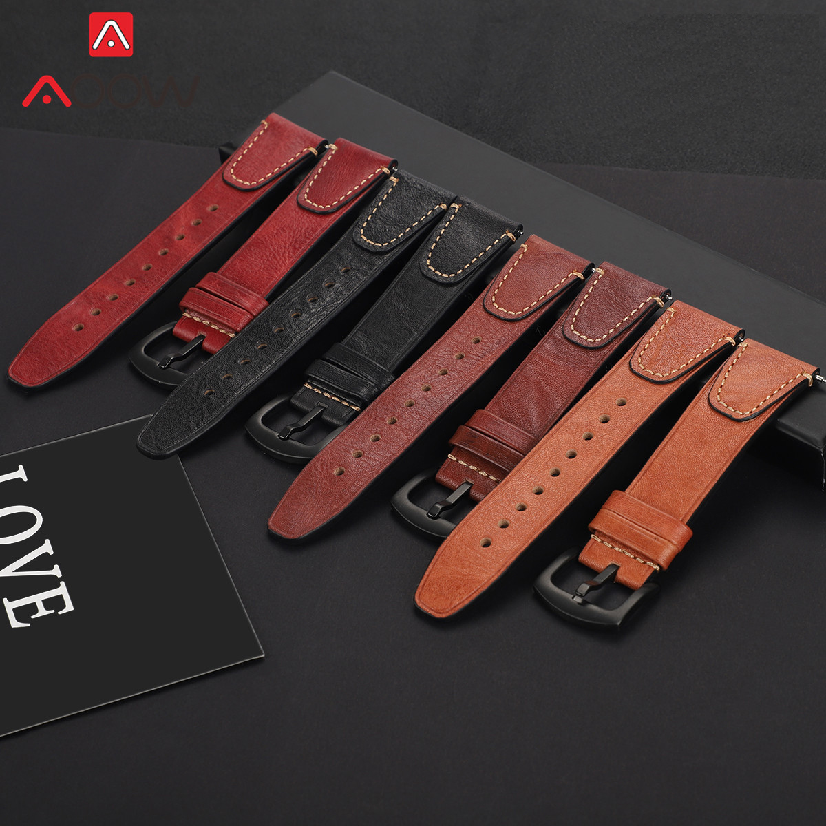 22mm Genuine Cow Leather Strap Band For Samsung Galaxy Watch 46mm Gear S3 Huawei GT Amazfit GTR 47mm Men Replacement Bracelet