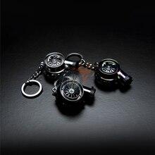 1X универсальный ключ кольцо турбины выглядят Электрический usb-зарядник для зарядки зажигалка с спиннинг звук автомобиля турбо брелок Перез...
