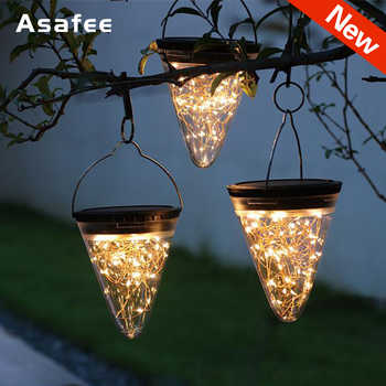 Solar LED Lights Cone Shape Hanging Lamp Outdoor Waterproof Yard Chandelier Light Christmas Decoration for home New Year Product - DISCOUNT ITEM  27% OFF All Category