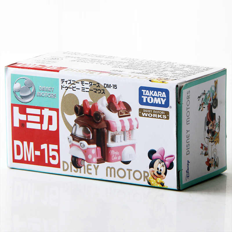 Takara Tomy Tomica Disney Motores DM-15 Doobie Minnie Mouse Carro Diecast Metal Toy Vehicle
