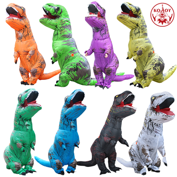 KOOY Inflatable Dinosaur Costume T REX Rider Costumes Purim Carnival Party Cosplay Costume Halloween Costume For Men Women Kids 1