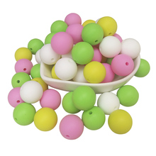 цены Joepada 10pcs 19mm Baby Teethers Silicone Beads Baby Toys Teething Beads Silicone BPA Free For Necklaces Pacifier Holder DIY