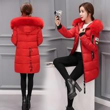 2019 Women Winter Hooded Warm Coat Plus Size Candy Color Cotton Padded Jacket Female Long Parka Womens Wadded Jaqueta Feminina цены онлайн