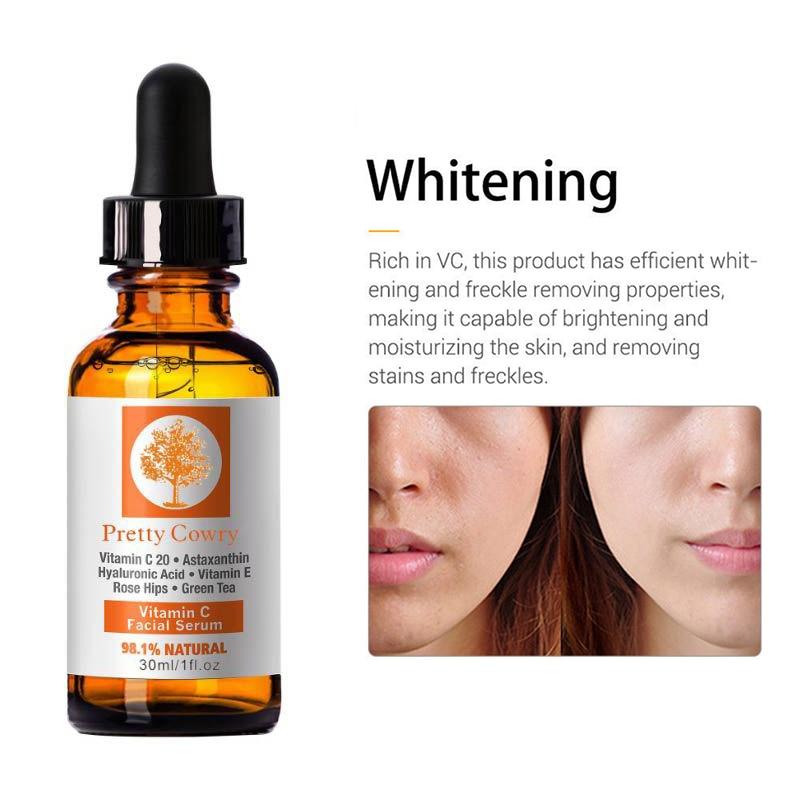 30ml Vitamin C Essence Hyaluronic Acid Whitening Anti-aging Natural Face Serum Firm Soothing Repair Essence Skin Care TSLM1