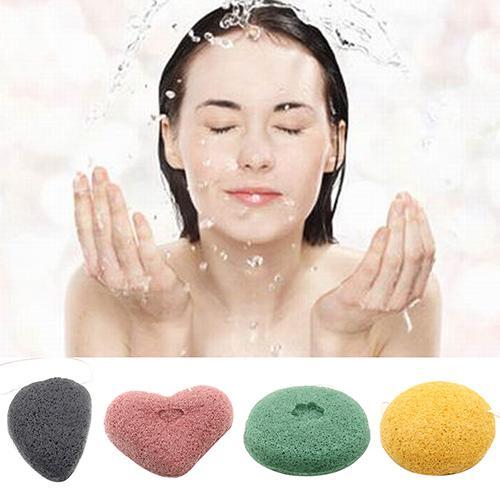 1Pcs Natural Konjac Konnyaku Puff Face Cleansing Washing Facial Sponge Exfoliator Face Care