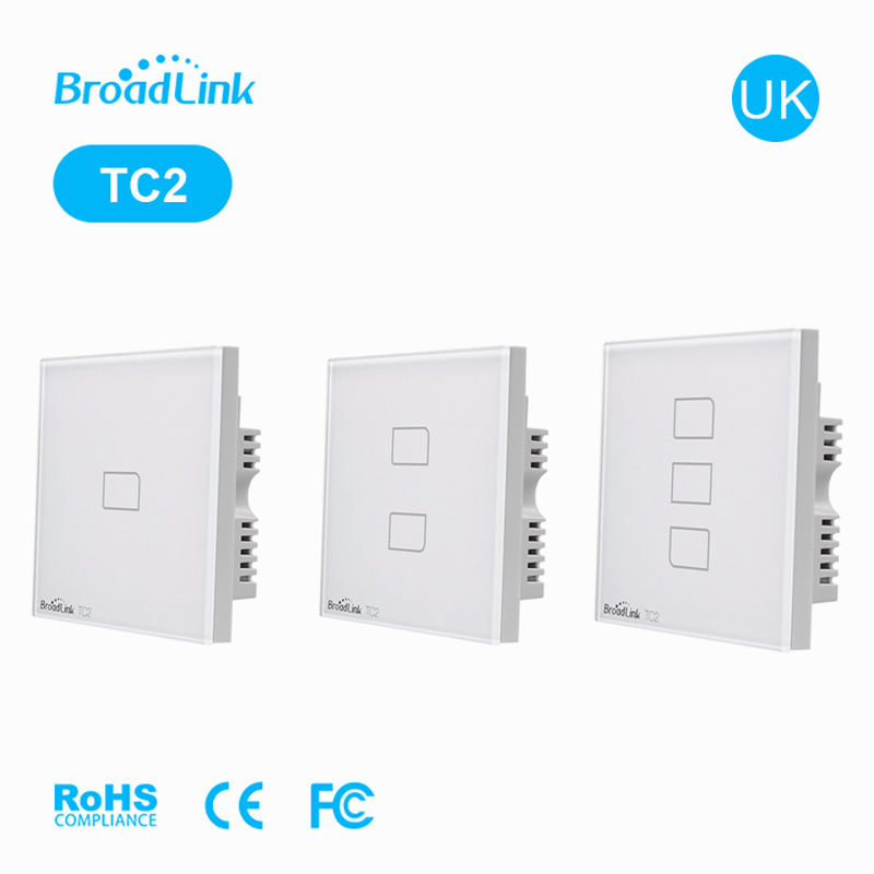 BroadLink UK TC2 123gang 433Mh Wall Light On/Off Wifi Switch Remote Control by IOS Android Phone APP Smart Home Automation