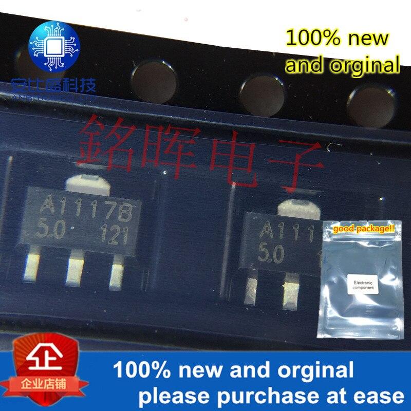 10pcs 100% New And Orgianl CJA1117B-5.0 SOT-89 5V In Stock