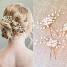 Hair-Accessories Flower Bridal-Decor Crystal Bridesmaid Beautiful Wedding 1PC Handmade