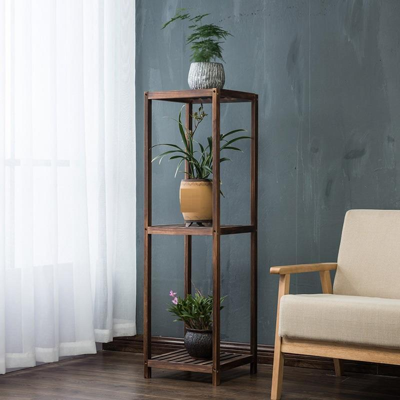 Wooden Shelves For Etagere Plante Estante Para Plantas Dekoration Balcony Outdoor Flower Stand Stojak Na Kwiaty Plant Shelf