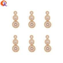 Cordial Design – 30 pièces de 8x18MM, bijoux à faire soi-même, boucles d'oreilles, pendentif, fait à la main, forme ronde, breloques CZ, accessoires de bijouterie
