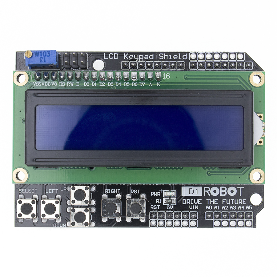 LCD Keypad Shield LCD1602 LCD 1602 Module Display blue screen For Arduino