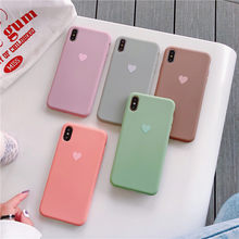Silicone Bear Love Heart Case for iPhone XS MAX XR X Candy Color Phone Cases for iPhone 7 6 6S 8 Plus Soft TPU Shell Cover(China)