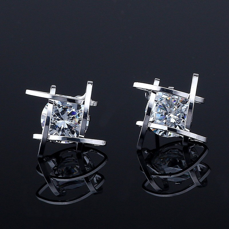 Hf238625355cc476db00e4b5bd741b041a - Women's earrings Europe and the new jewelry geometric hollow square triangle zircon earrings fashion banquet jewelry