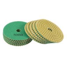 Uxcell 10 sztuk 50-3000Grit diament polerowania naczyń 4 cal 100mm dla do betonu kamienia marmuru granitu polerowania skorzystaj z tarcze szlifierskie tanie tanio CN (pochodzenie) Metalworking Ścierne pad Sanding Discs