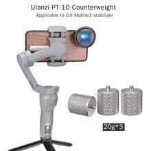 Ulanzi 60g Osmo Mobile 3 contrepoids accessoires de cardan 2 contrepoids pour lentille anamorphique Moment de bourrage