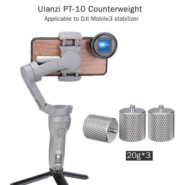 Ulanzi 60g osmo móvel 3 contrapeso cardan acessórios 2 contrapeso peso para a lente anamorphic do momento de blancing