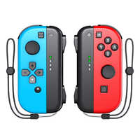 OIVO interruptor alegría Con controlador inalámbrico de Nintendo Joystick 6 juegos/L/R 2 Gamepads accesorios de interruptor controladores de la correa de muñeca