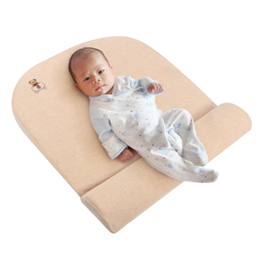 White Baby Head Shaping Pillow Anti Roller Side Sleeping Baby Wedge Pillow Triangle Positioning Baby Pillow Safe Sleeping Reflux Wedge Pillow for Baby