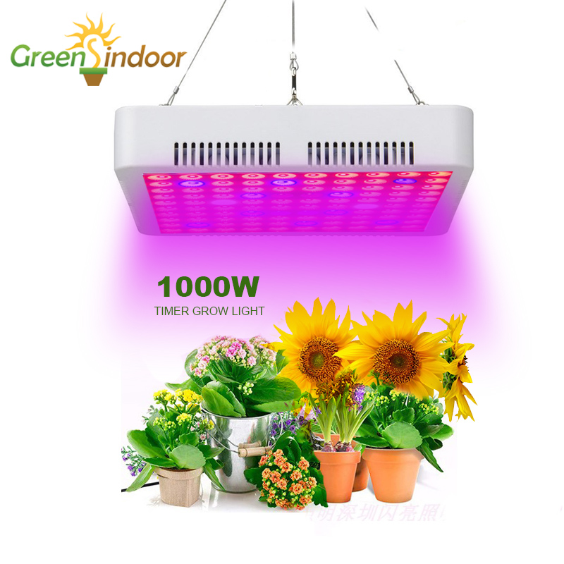 Full Spectrum 1000W LED Grow Light Timer Phyto Lamp For Plant Indoor Flowers Growing Lights Led Fitolampy Fitolamp With Gift
