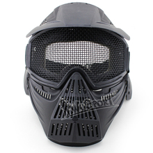 Mask Of Full -face Steel Male Mask Airsoft Wargame Paintball Field Cs Mask Military Security Hunt Army Universal Helmet
