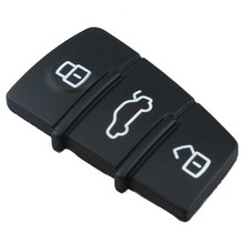 1 pc Rubber Key Pad Remote Car Repair Key Fob Replacement 3 Buttons Pad For Audi A3 A4 A6 TT Q7