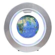 Magnetic-Ball-Air-World-Map Levitation-Globe Globe-Rotating for Office-Set Circular-Frame