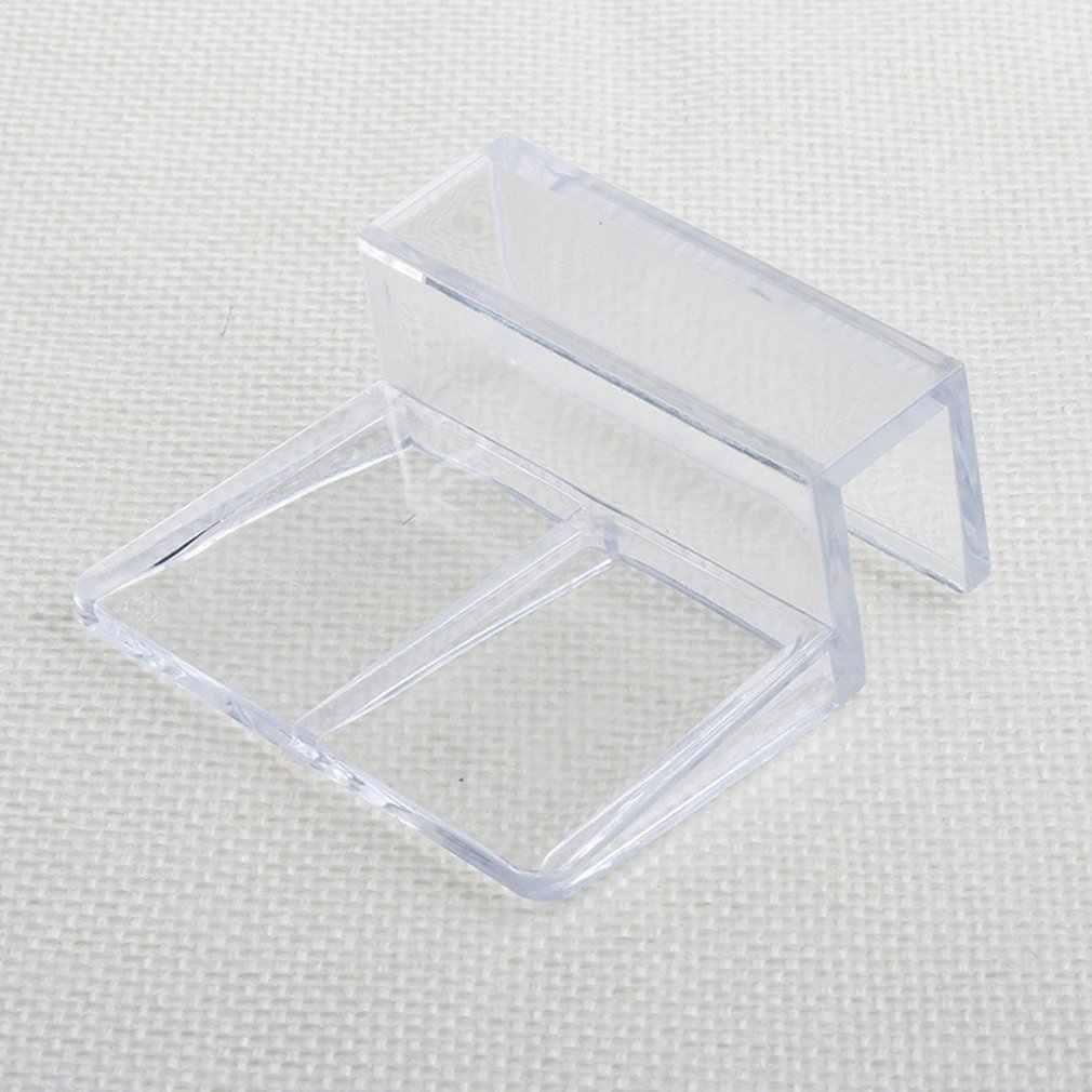 6/8/10/12mm akrylowe akwarium Fish Tank szkło stałe pokrywa klip uchwyt zacisku uchwyt półka lampa filtr barrel Rack wsparcie