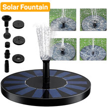 Floating Solar Water Fountain Pool Pond Waterfall Fountain Garden Decoration Outdoor Bird Bath Solar Panel Powered Fountain