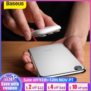 Image 1 - Baseus Spider Suction Cup Wireless Charger For iPhone XR XS Max Portable Fast Wireless charging Pad For Samsung Note 10 9 S9+ S8